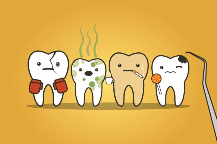 macchie e carie denti